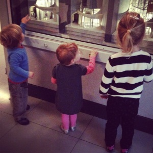 Children watching lifts