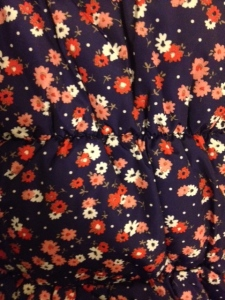 M&S toddler coat flowery pattern