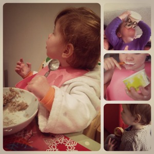 Toddler feeding collage