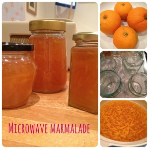 Microwave marmalade collage
