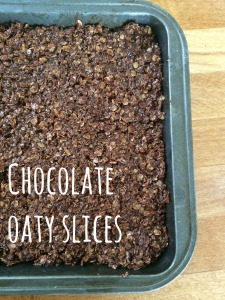 chocolate oaty slices