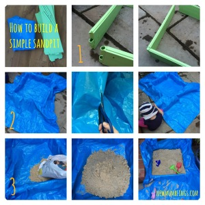 Homemade sandpit guide