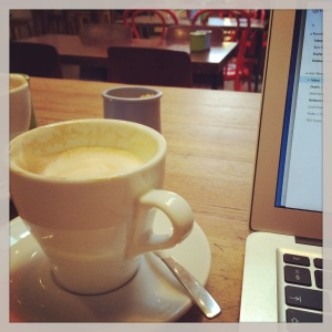 Blogging in a coffee shop