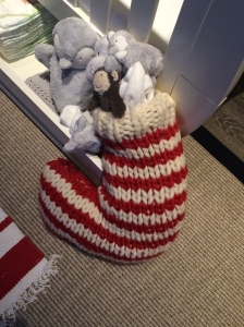 The White Company Stripy stocking