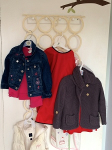 Door hanging for toddler coats