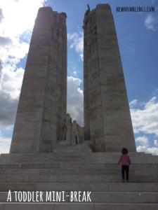 Vimy Memorial Toddler Standing
