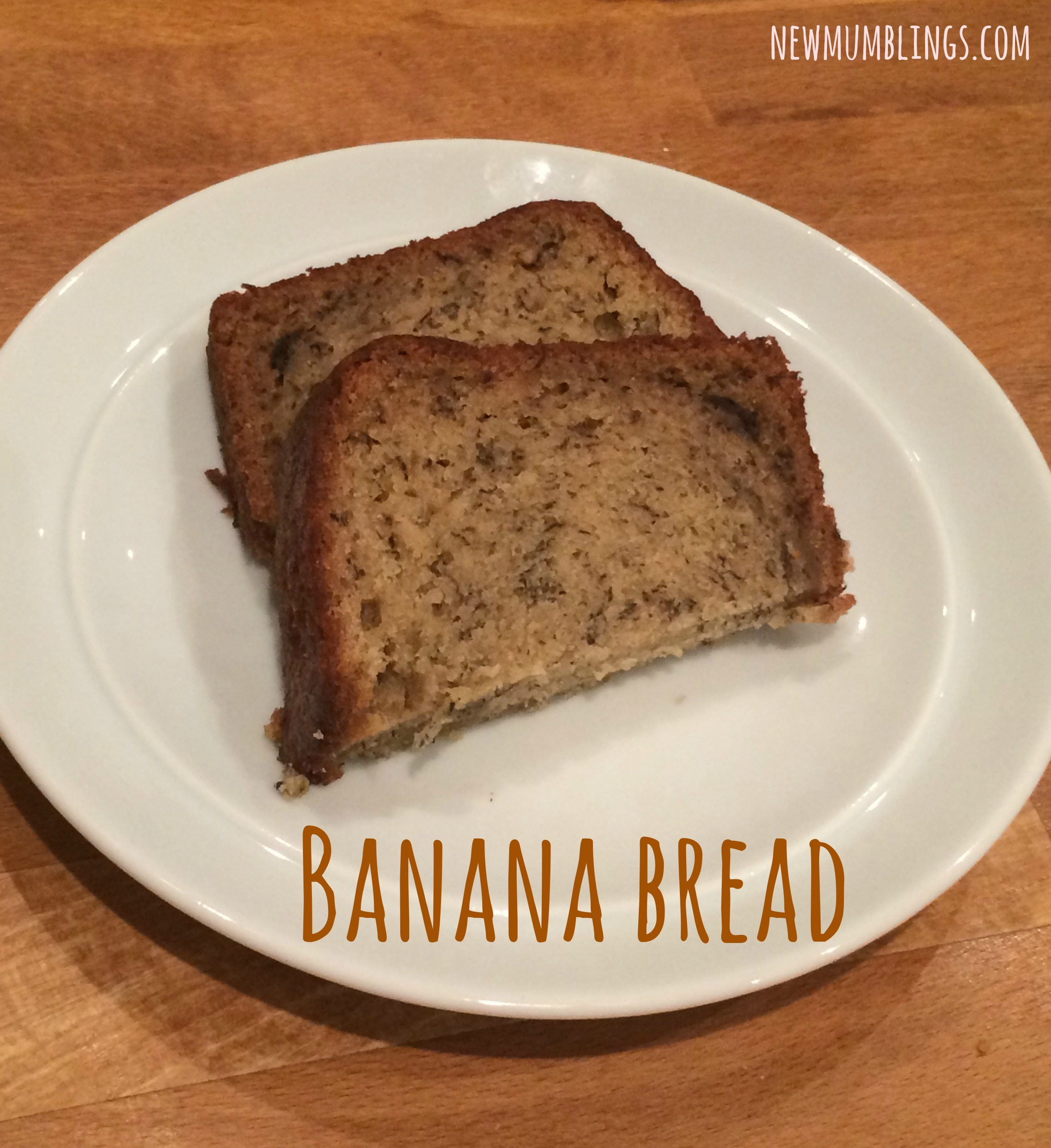 Simple banana bread delicious and uses up bananas new mumblings banana bread slices forumfinder Choice Image
