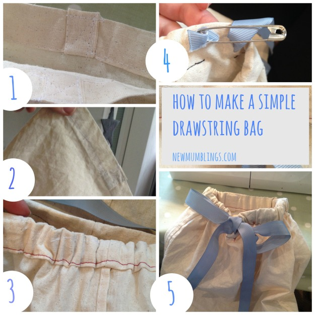 Instructions for simple drawstring bag